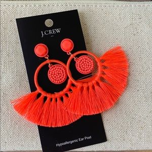 {J. Crew} large statement earrings